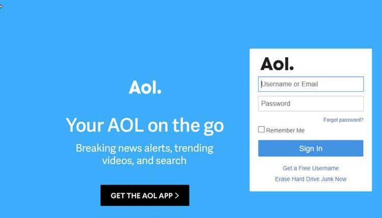 AOL Mail cung cấp các tài khoản email miễn phí.