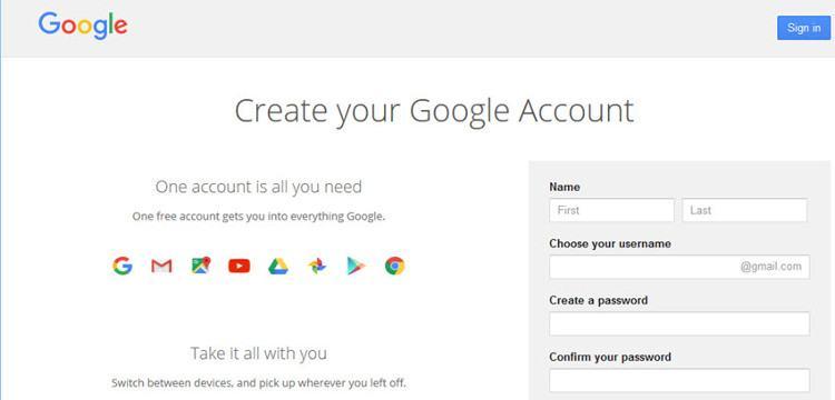 Bạn có thể tạo một tài khoản email miễn phí với Gmail.