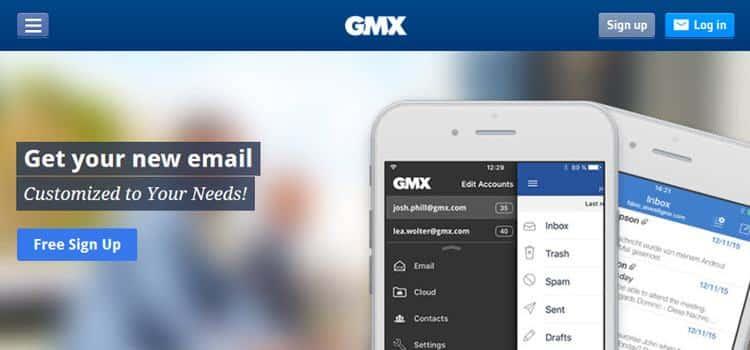 Bạn có thể đăng ký một tài khoản email miễn phí với GMX.