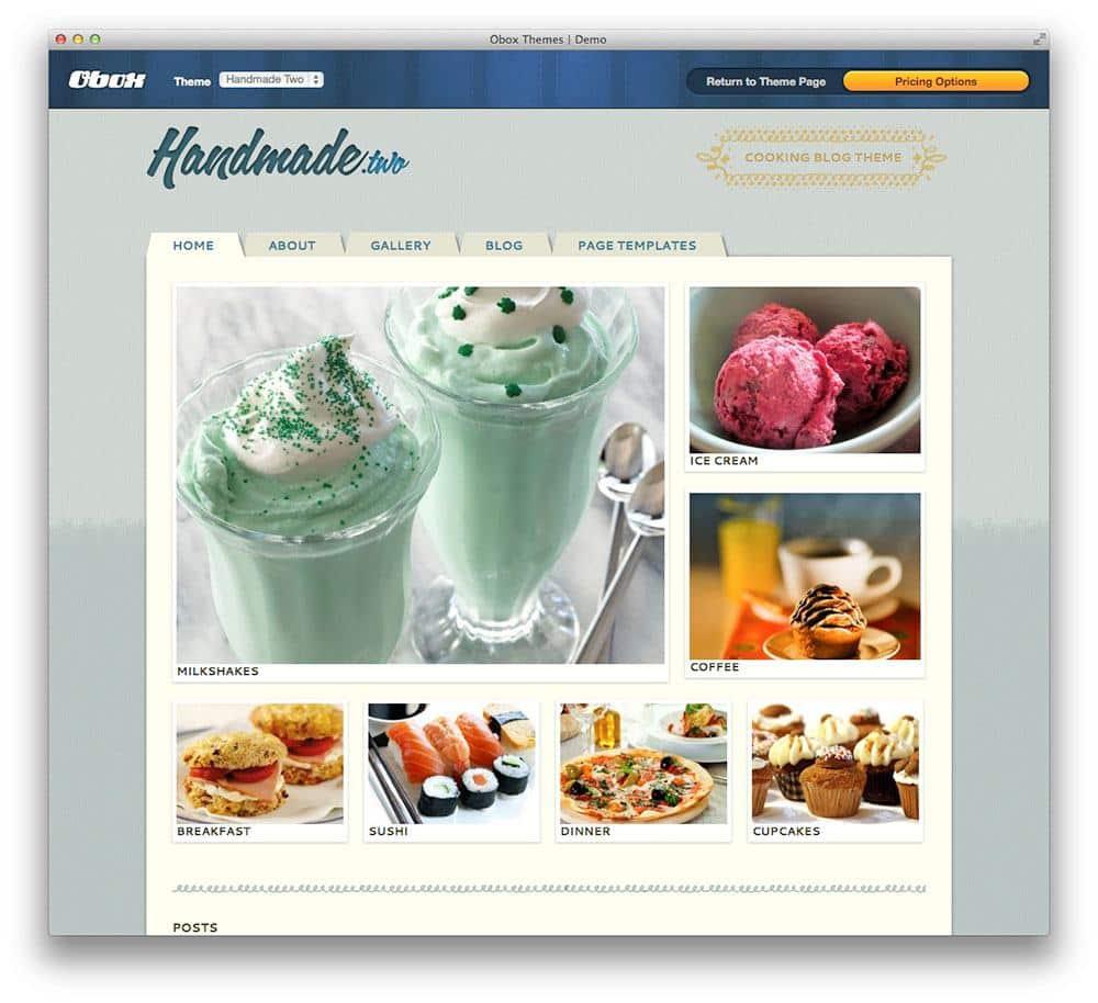 Handmade Two WordPress theme