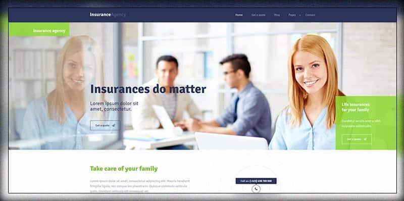 Insurance WordPress Theme For Insurance Agency