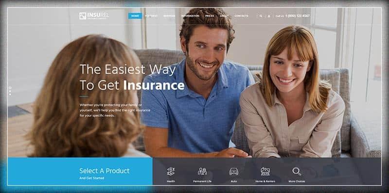 Insurel Insurance Finance Theme