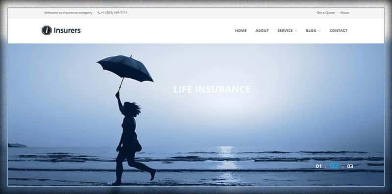 Insurers Insurance Agency WordPress Theme
