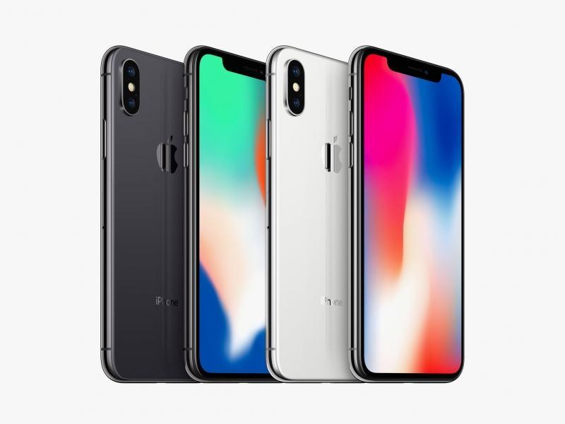 Hình ảnh Iphone X với 2 phiên bản màu Đen và Bạc.