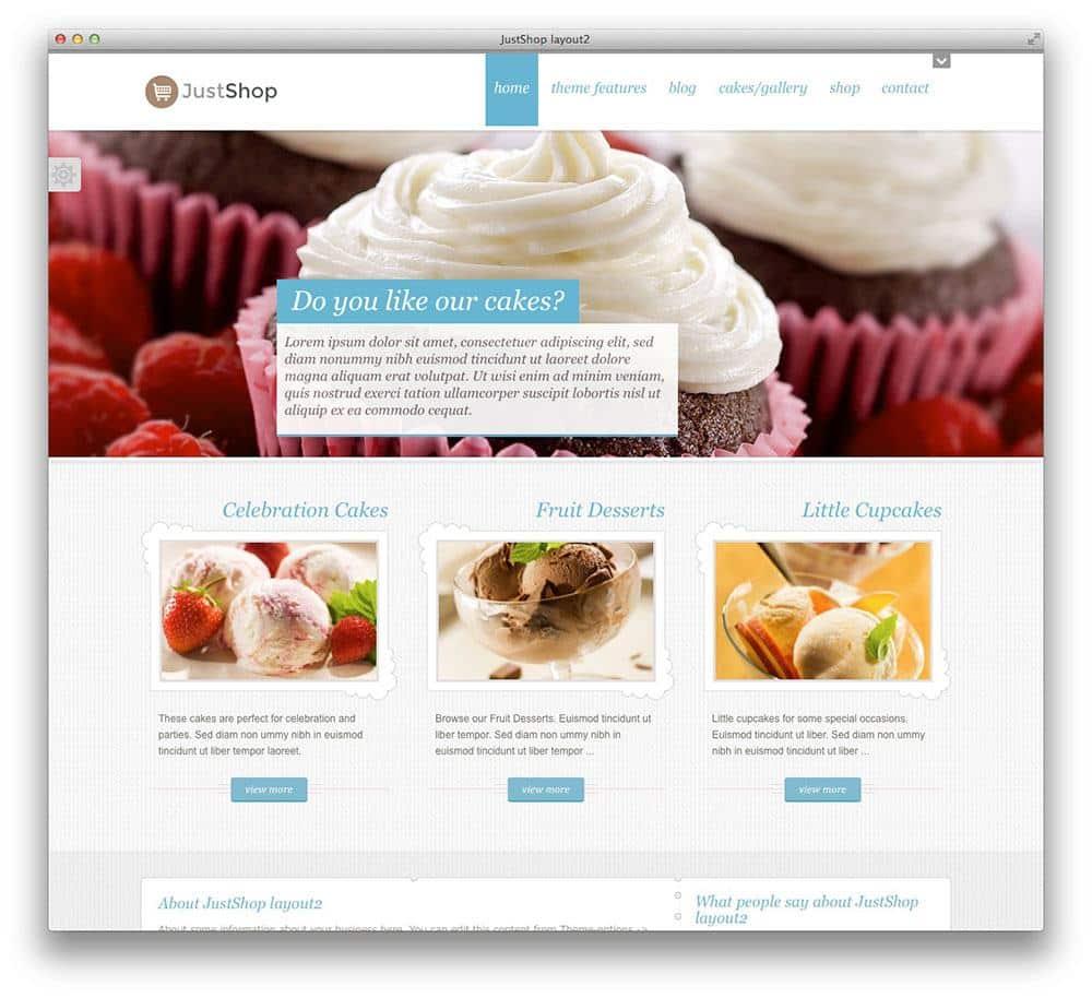 Justshop WordPress theme