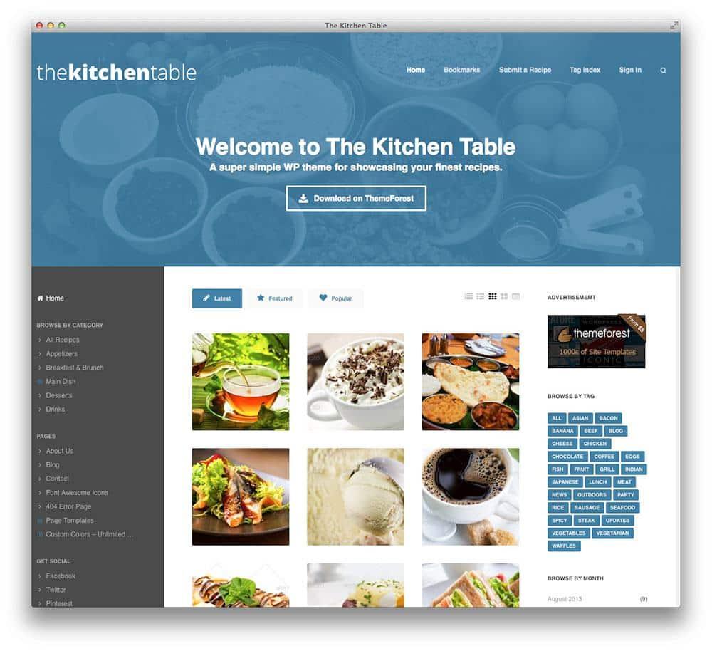 The Kitchen Table WordPress theme