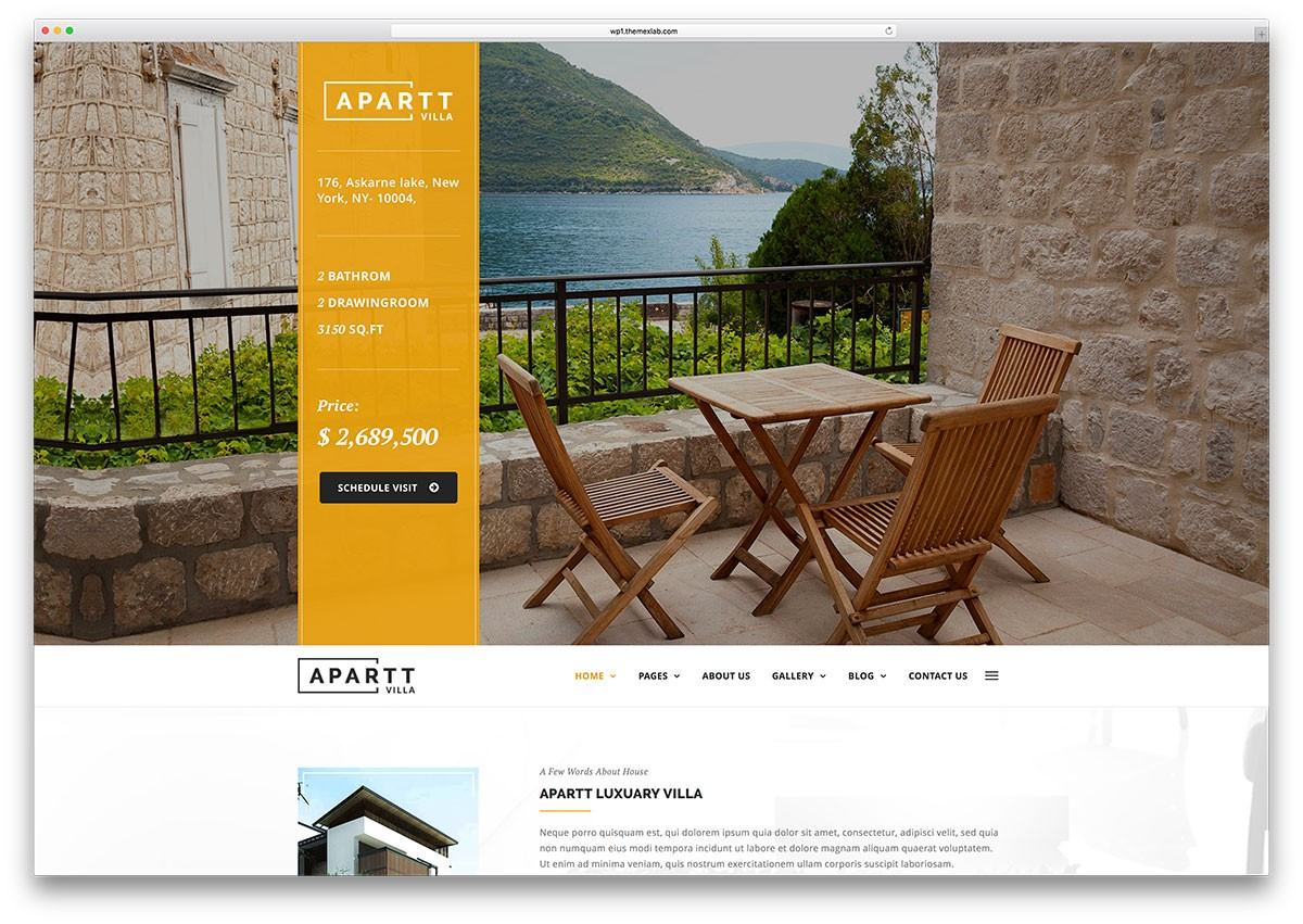 Mẫu web bất động sản Apartvilla