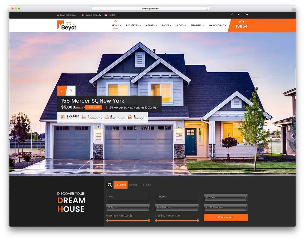 Mẫu web bất động sản Beyout