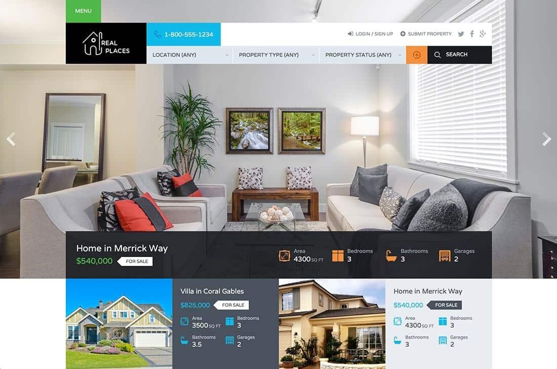 Mẫu web bất động sản realtyspace