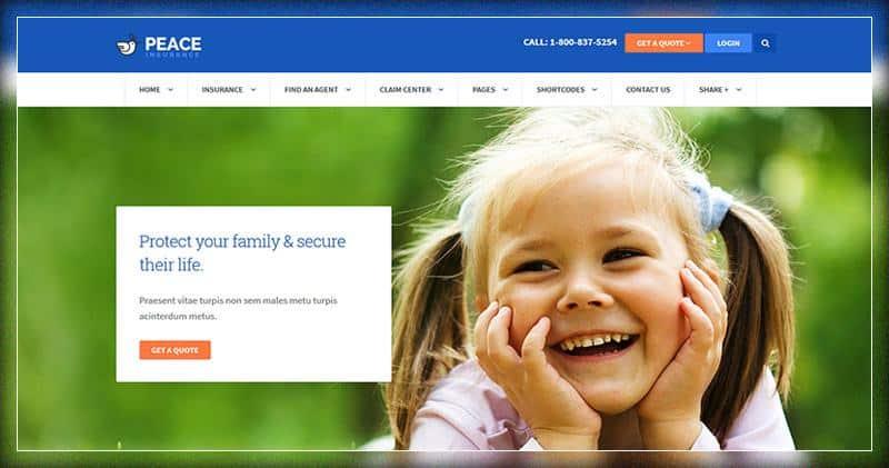 Peace Insurance Agency WordPress Theme