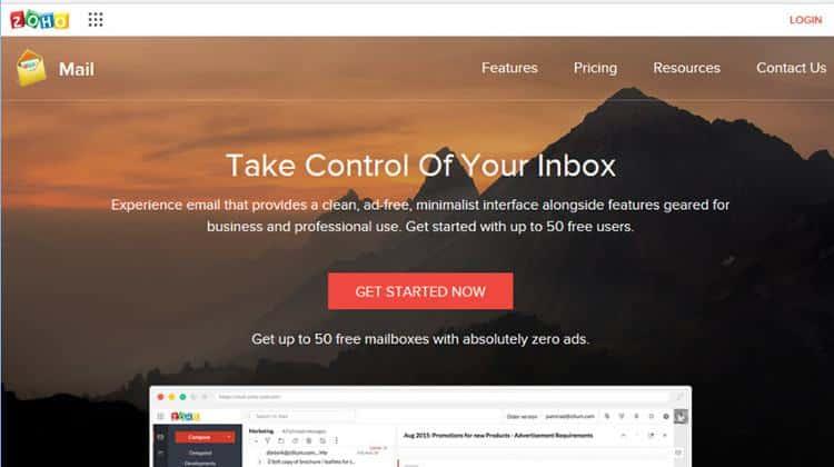 Ở cấp độ cơ bản nhất của Zoho Mail là miễn phí.