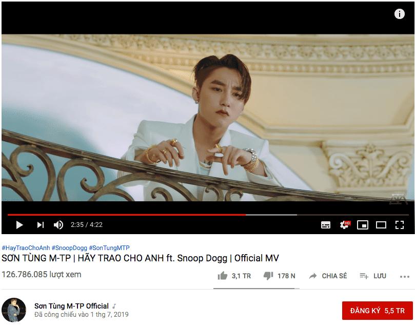 """Bên cạnh kỷ lục khủng, Sơn Tùng cũng có lượng dislike """"ấn tượng"""" trong mỗi MV."""