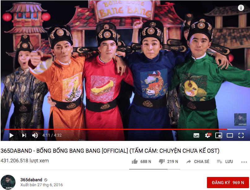 """Là MV có nhiều lượt xem nhiềunhất Vpop nhưng lượng người bấm dislike cũng rất """"khủng""""."""