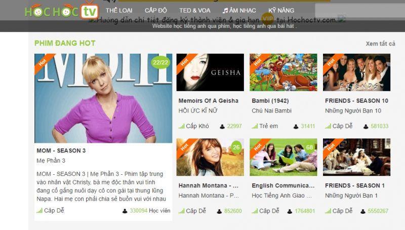 8 trang web xem phim luyện học tiếng Anh hiệu quả nhất hiện nay