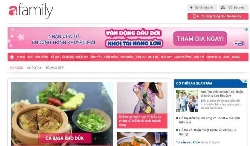Danh sách 11 webiste ẩm thực nổi tiếng nhất Việt Nam 2019