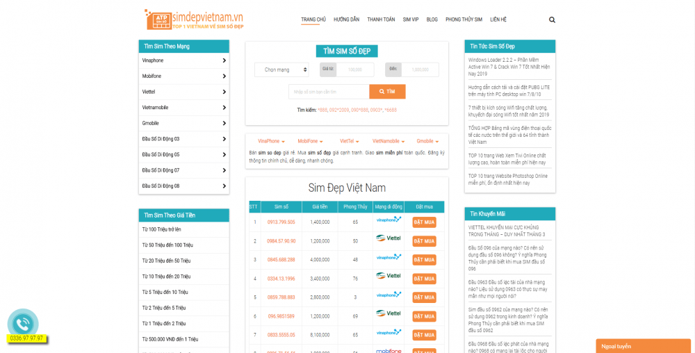 Điểm danh Top 5 dịch vụ web bán sim số đẹp hot nhất hiện nay