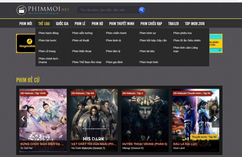 50+ web xem phim online có người xem đông nhất Việt Nam
