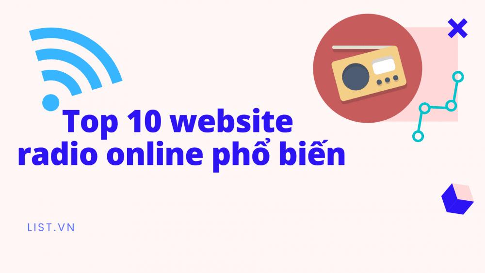 Top 10 Website Radio Online Phổ Biến
