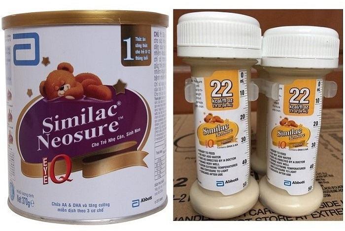 Sữa Similac Neosure IQ dạng bột và dạng nước