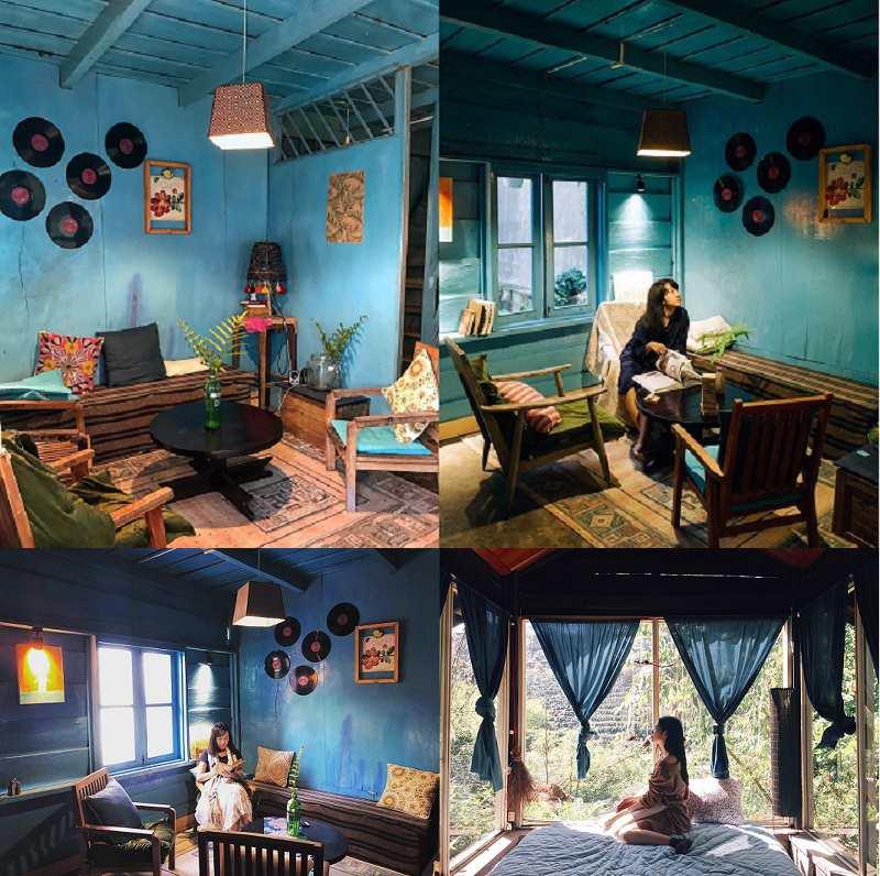 Không gian bên trong Le Bleu homestay ở Đà Lạt