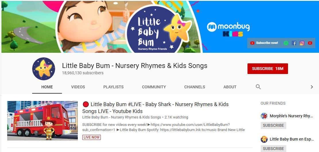 Little Baby Bum là một Kênh Youtube hay cho trẻ em