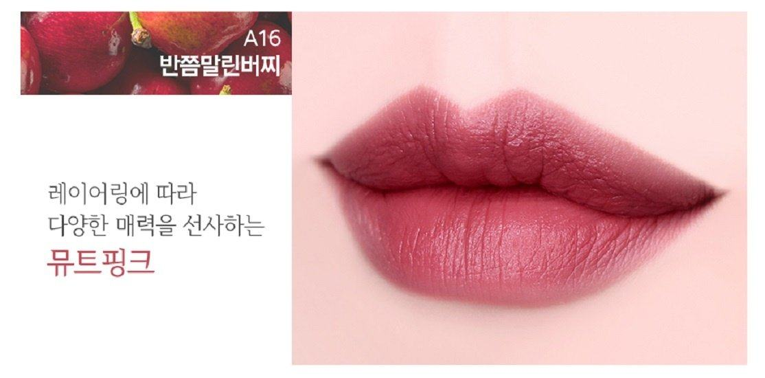Review son Black Rouge Air Fit Velvet Tint Version 3 Dry Fruit: sự ...