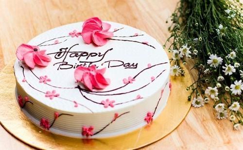Mẫu bánh sinh nhật đơn giản nhưng không kém phần sang trọng