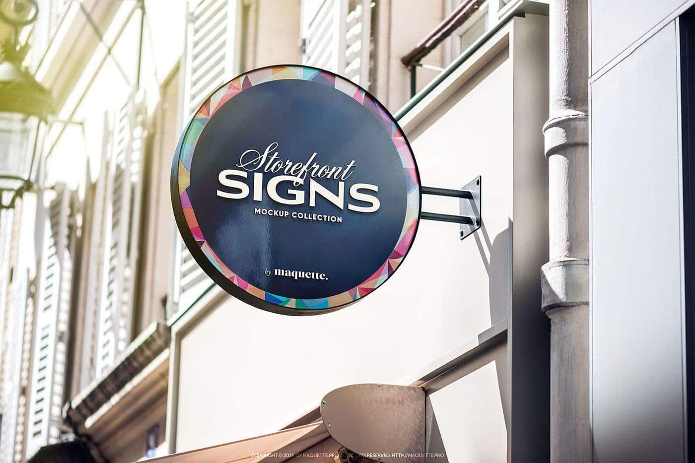 Round Signboard PSD Mockup on Behance | Mô hình sản phẩm, Behance, Mô hình
