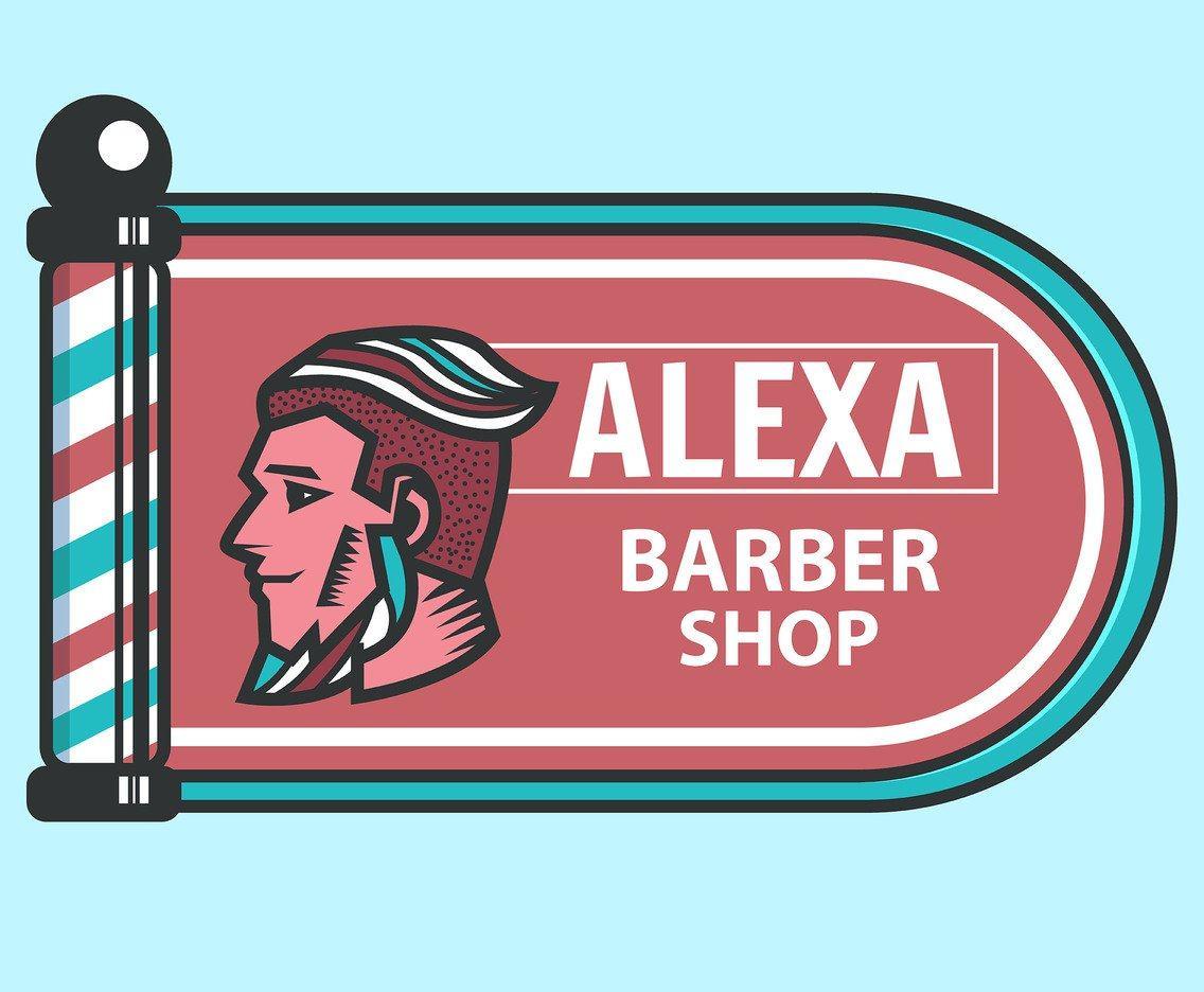 Barber Shop Signboard Vector Vector Art & Graphics | freevector.com