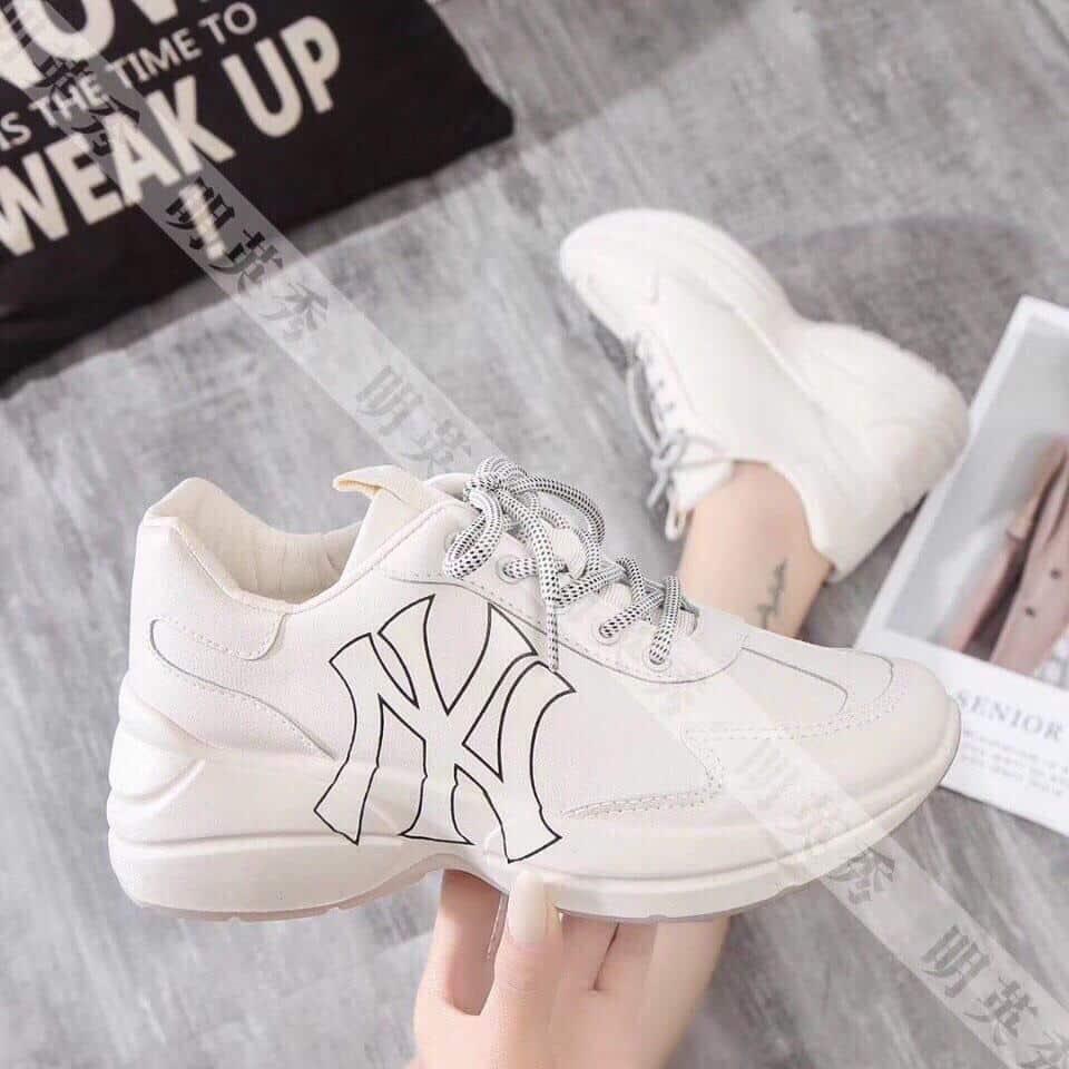 Giày nữ sneaker NY màu trắng - Minh Hảo Shoes - Chuyên giày dép nữ cao cấp