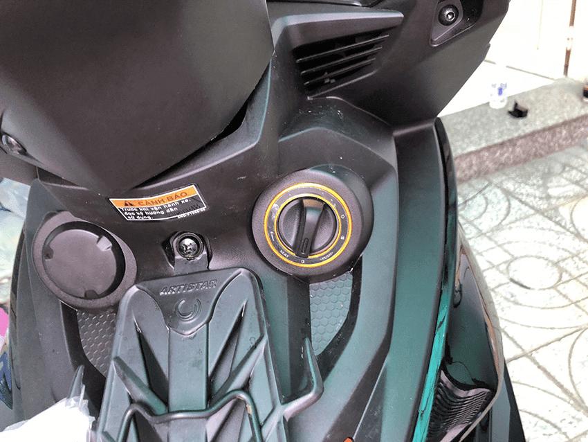 Xe Exciter lắp đặt hệ thống khóa chống trộm thông minh