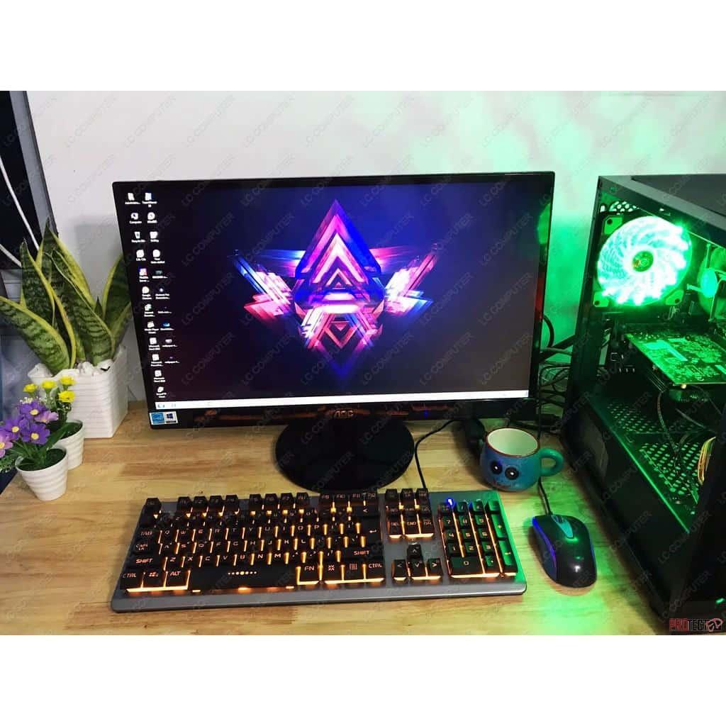bộ máy tính chơi LOL, màn hình aoc 23inch ips Full viền | Shopee Việt Nam