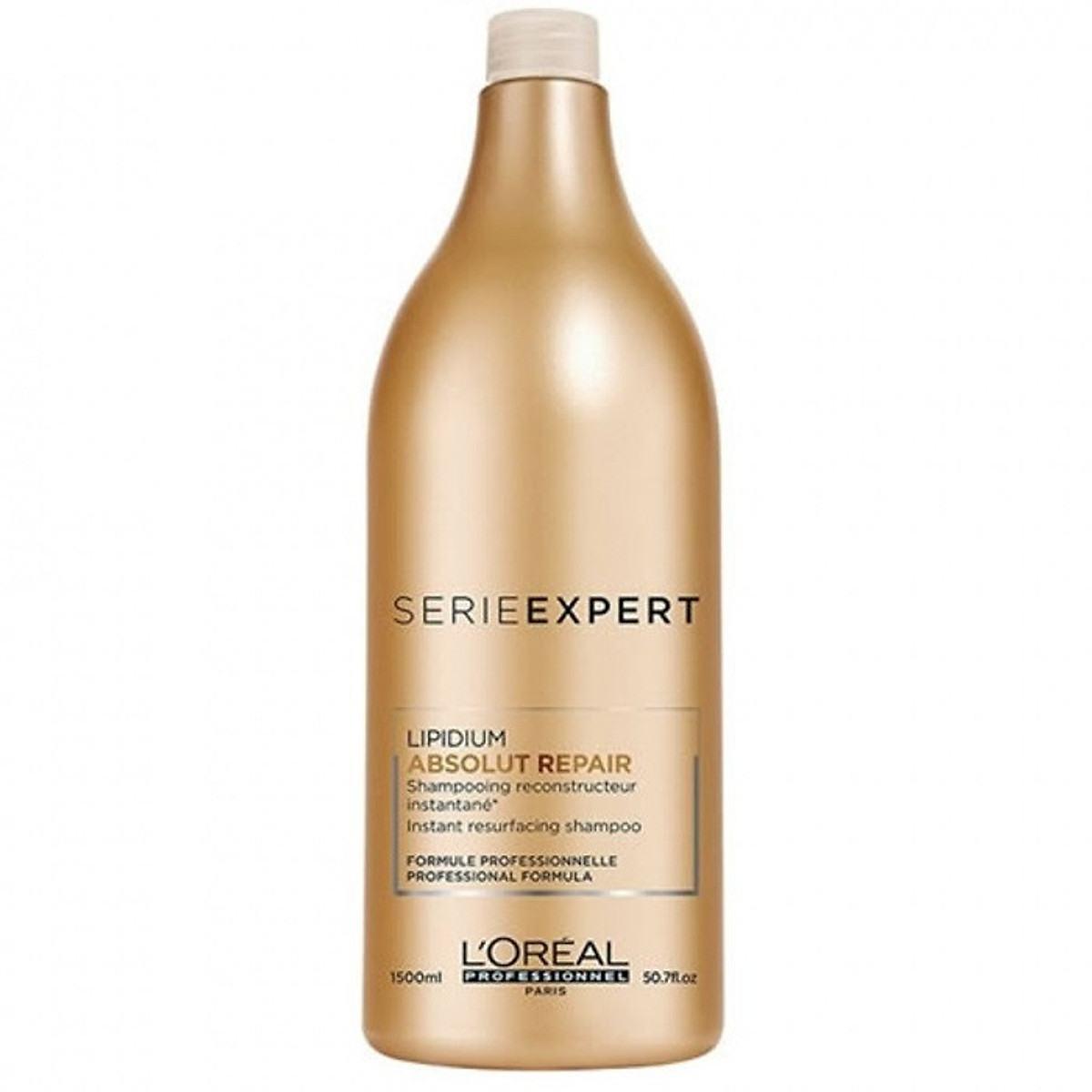 Dầu gội phục hồi tóc L'oreal Serie Expert Absolut Repair Instant resurfacing shampoo 1500ml | Tiki