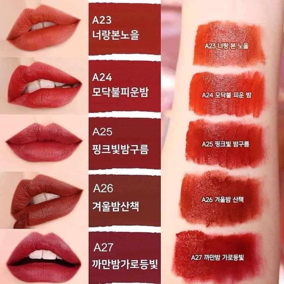 son Black Rouge phiên bản mới nhất vỏ màu xanh   Shopee Việt Nam