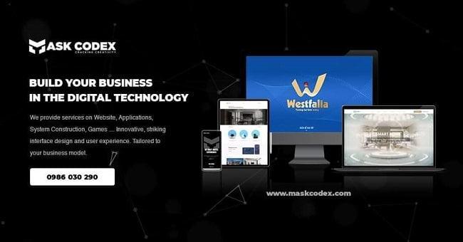 Thiết kế lập trình web mask codex