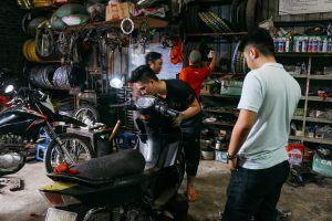 Inside A Vietnamese Motorbike Repair Shop