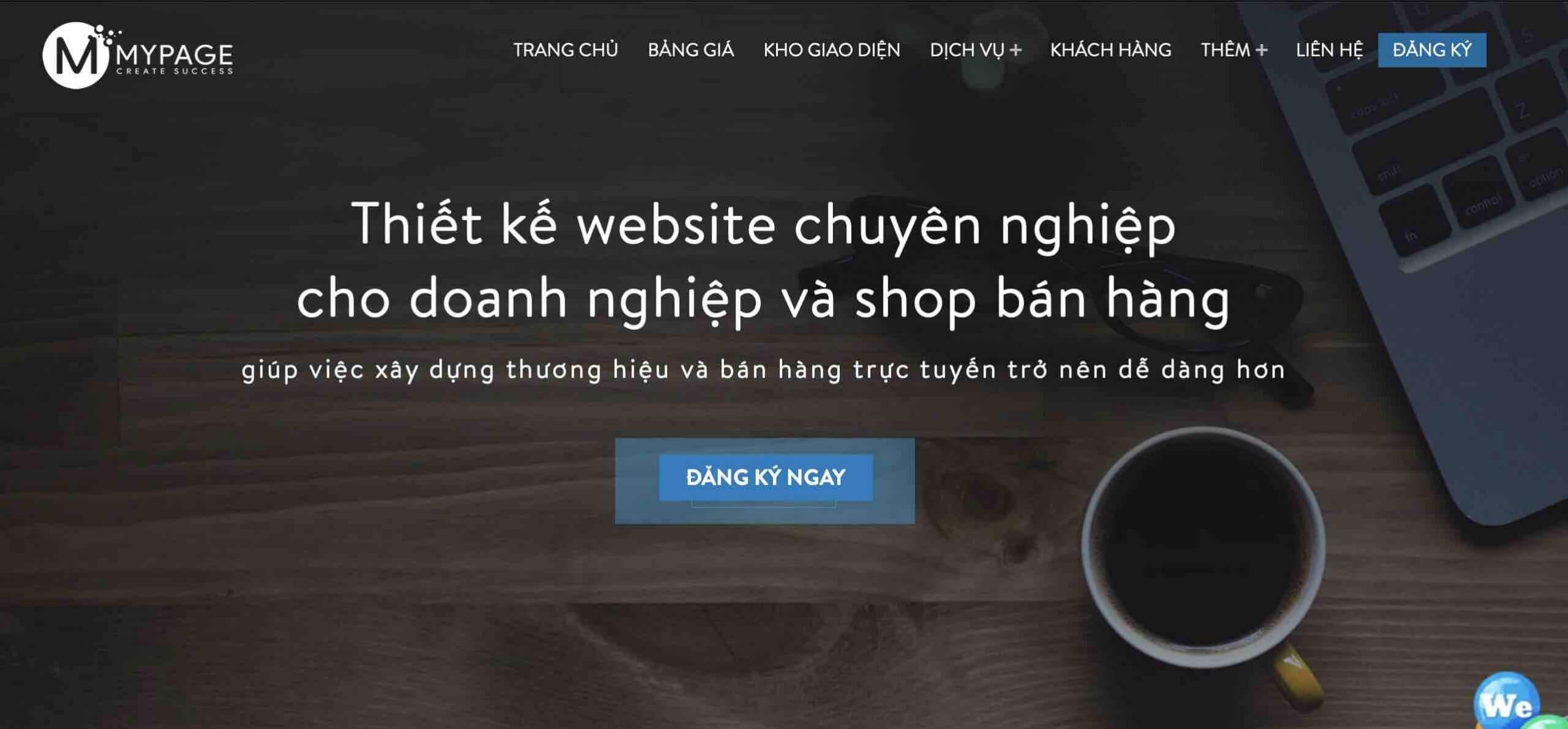 Công ty nào thiết kế website uy tín? MYPAGE ưu tiên hàng đầu tại HCM