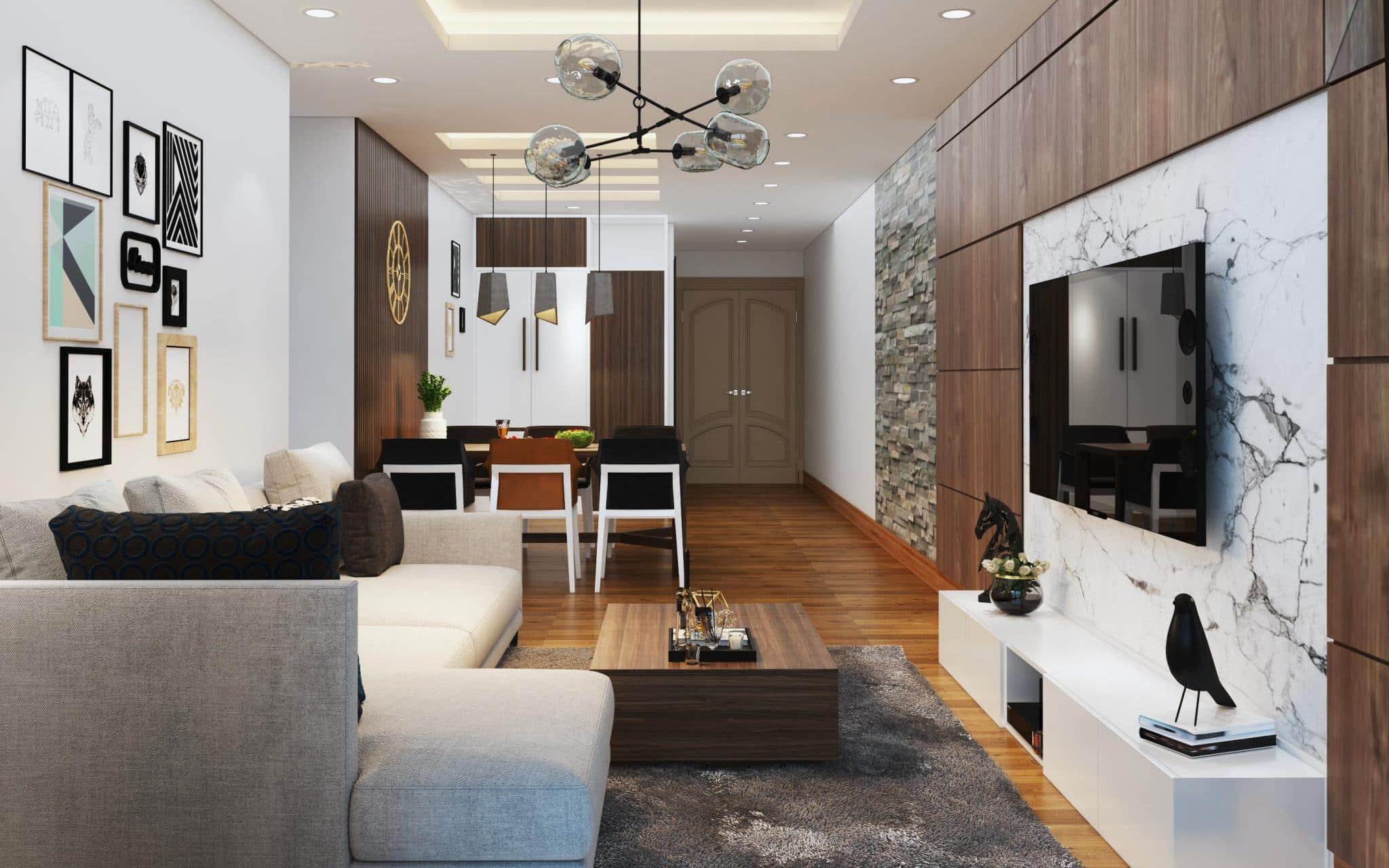 Tư vấn thiết kế nội thất căn hộ chung cư có diện tích 83m² theo phong cách  hiện đại | Báo dân sinh
