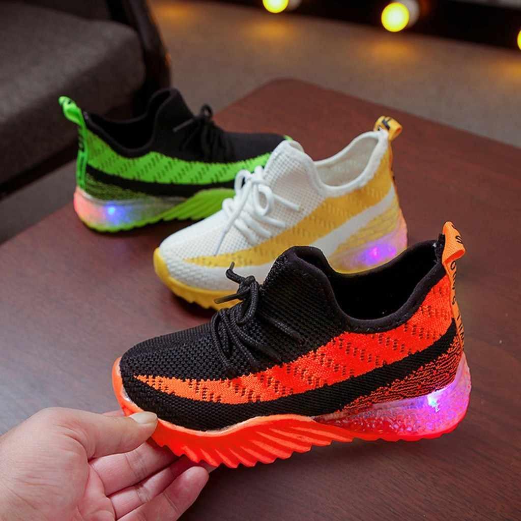 Giầy Trẻ Em Cho Bé Gái Bé Trai Giày Kẹo Màu Dạ Quang Thể Thao Chạy Trẻ Em  Giày Flat Tenis Infantil Zapatillas Nino|Giày Sneaker| - AliExpress