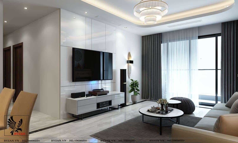 Thiết kế nội thất chung cư Vincity Ocean Park, Gia Lâm - Chị Linh - Công ty Thiết  kế & Thi công Nội thất Trọn Gói Byzan – Uy tín, Chuyên nghiệp