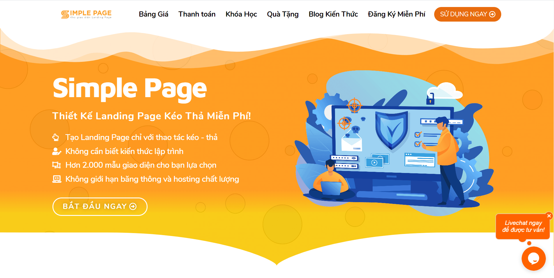 Simple Page - Nền tảng Tạo Landing Page Miễn Phí!