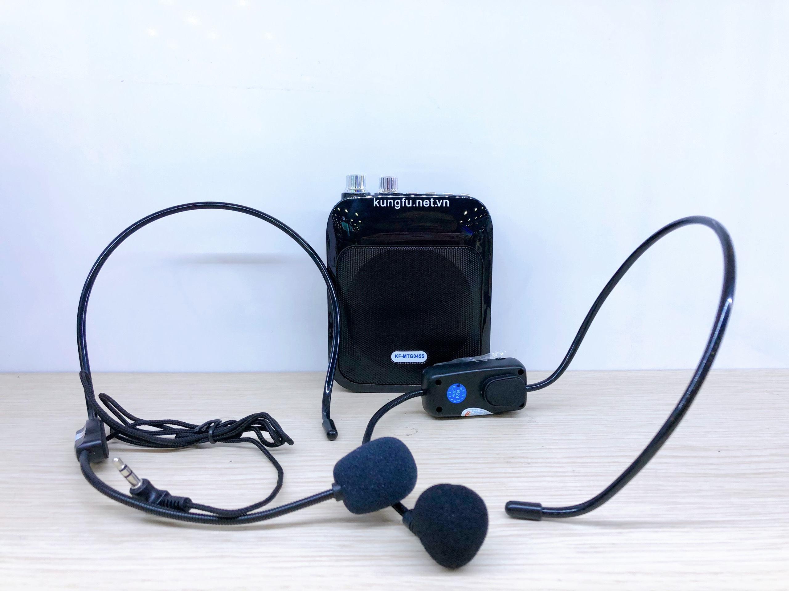 Máy trợ giảng không dây KUNGFU KF-045S (gồm 1 loa + 1 Micro đeo đầu