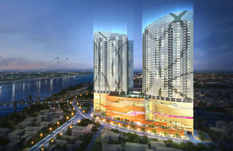 Kết quả hình ảnh cho Tháp Mipec Riverside A và B
