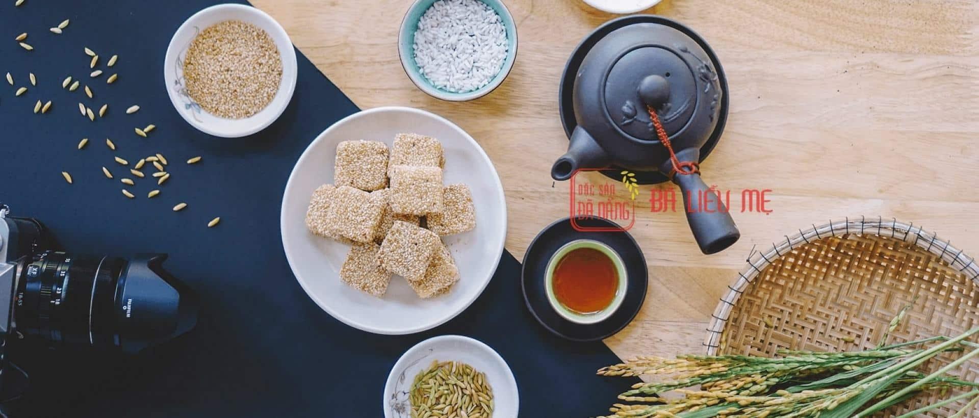 Bánh khô mè Bà Liễu Mẹ | Đặc sản Đà Nẵng | Đặc sản khô Đà Nẵng làm quà