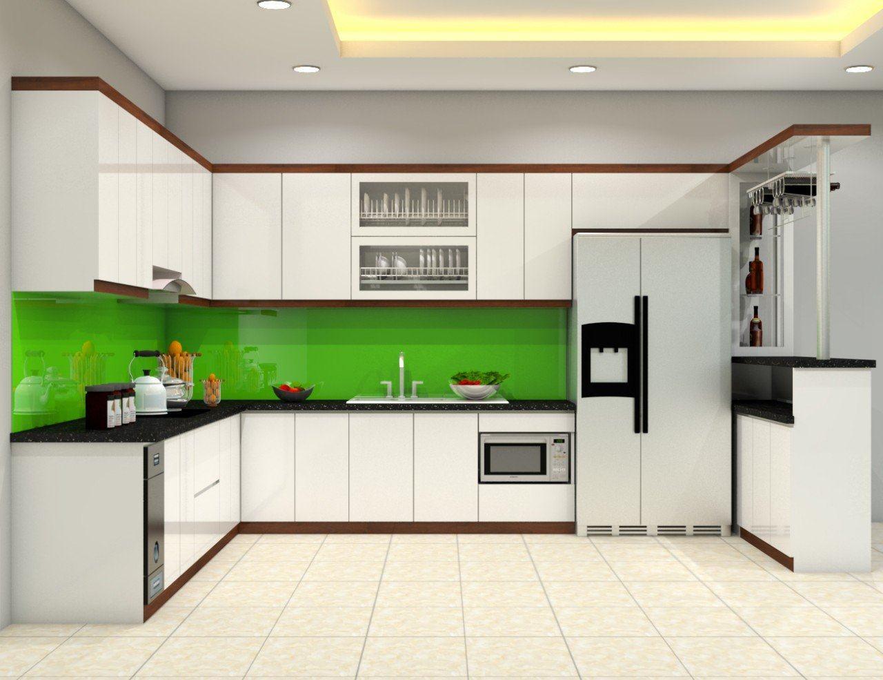 Tủ bếp Acrylic A-005 - NỘI THẤT BẾP XINH