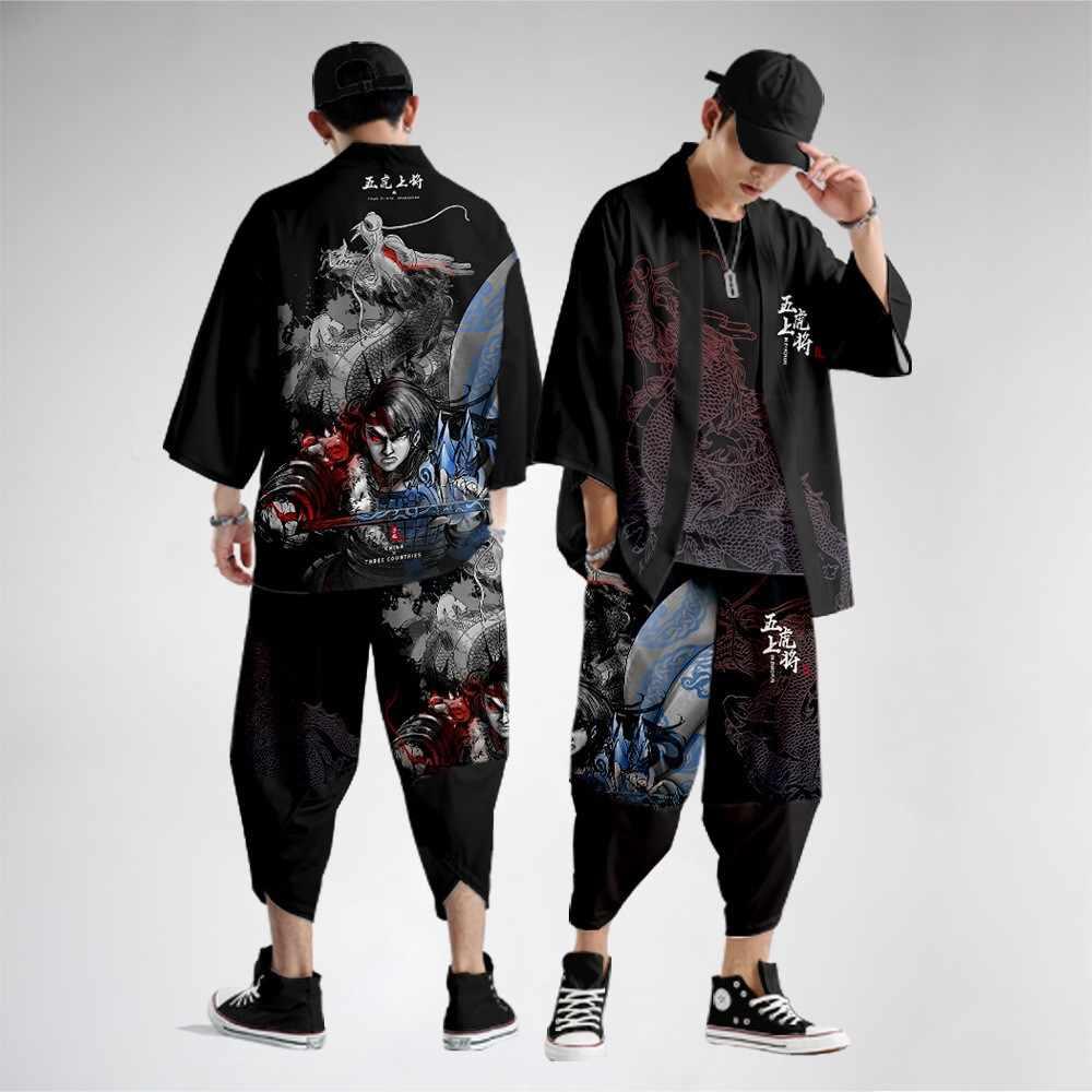 Phong Cách Trung Hoa In Áo Cardigan Kimono Bộ Plus Size Nam Yukata Samurai Quần  Áo Dáng Rộng Dạo Phố Áo Khoác Quần Phù Hợp Với 6XL Bộ Đồ Cho Nam  -  AliExpress