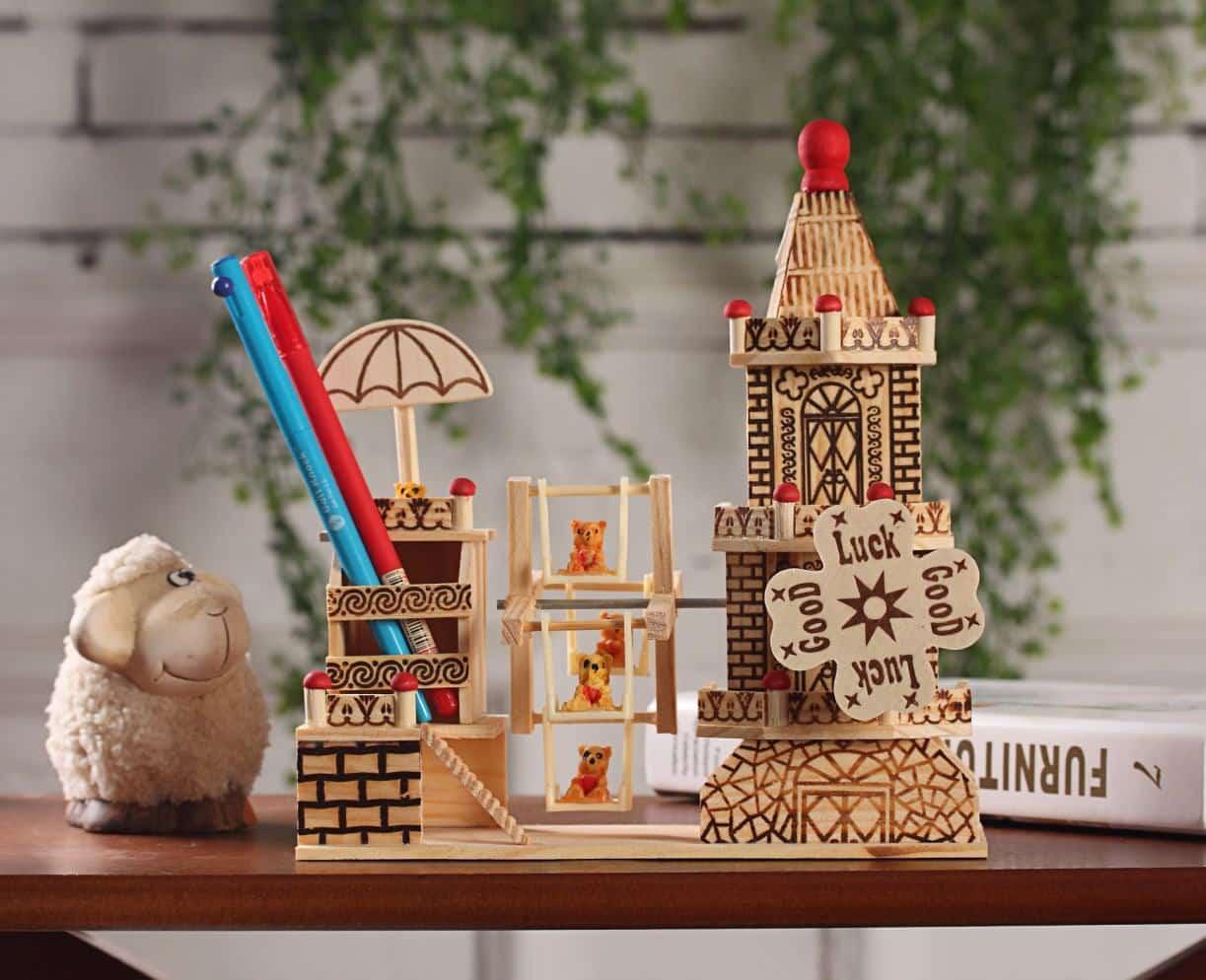 Quà lưu niệm ngôi nhà làm bằng gỗ rất xinh Mua Bán Sỉ Lẻ Order Quảng Châu