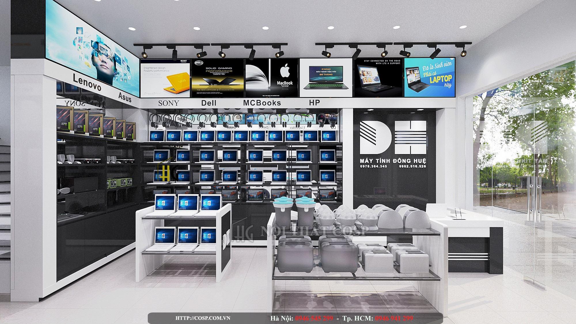 Thiết kế cửa hàng điện máy anh Đông- Quảng Ninh