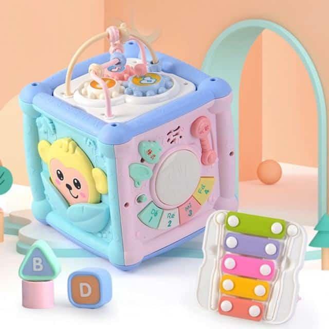 CÓ SẴN] Hộp đồ chơi 6 mặt kích thích phát triển kỹ năng cho bé | Shopee Việt Nam