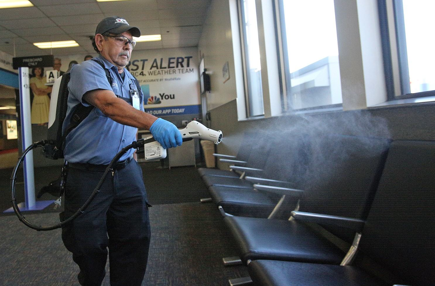 We want to get ahead of the curve': Hollywood Burbank Airport starts using  new sanitation device - Los Angeles Times